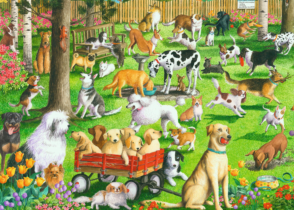 Ravensburger Large Format 500pc At the Dog Park