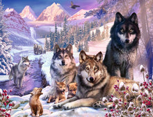 Load image into Gallery viewer, Ravensburger 2000pc Wolves in the Snow