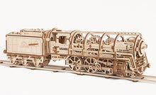 Load image into Gallery viewer, UGears Steam Locomotive with Tender