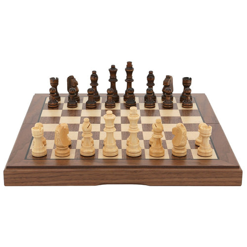 Dal Rossi Italy 38cm Walnut Chess Set
