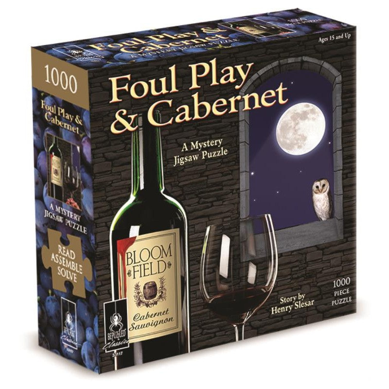 1000pc Mystery Puzzle - Foul Play and Cabernet
