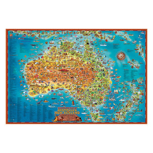 Blue Opal 300pc Down Under Australia Map