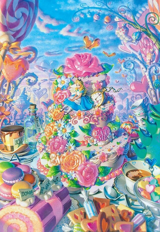 Tenyo 500pc Disney Alice in Sweets Land Puzzle