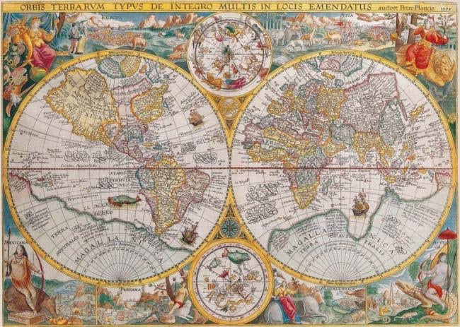 Ravensburger 1500pc World Map 1594