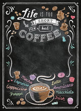 Load image into Gallery viewer, Clementoni 1000pc Blackboard Coffee