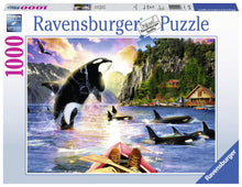 Load image into Gallery viewer, Ravensburger 1000pc Whale Watching