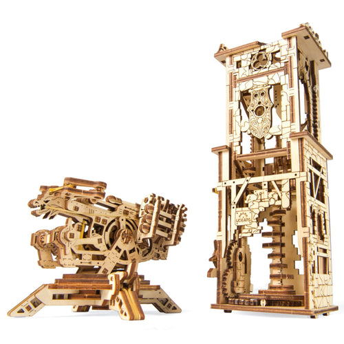 UGears Archallista Tower and Catapult