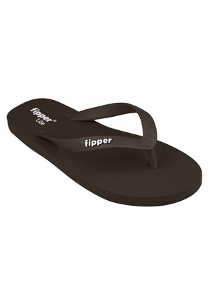 Fipper Slipper Lite for Unisex in Brown (Dark)