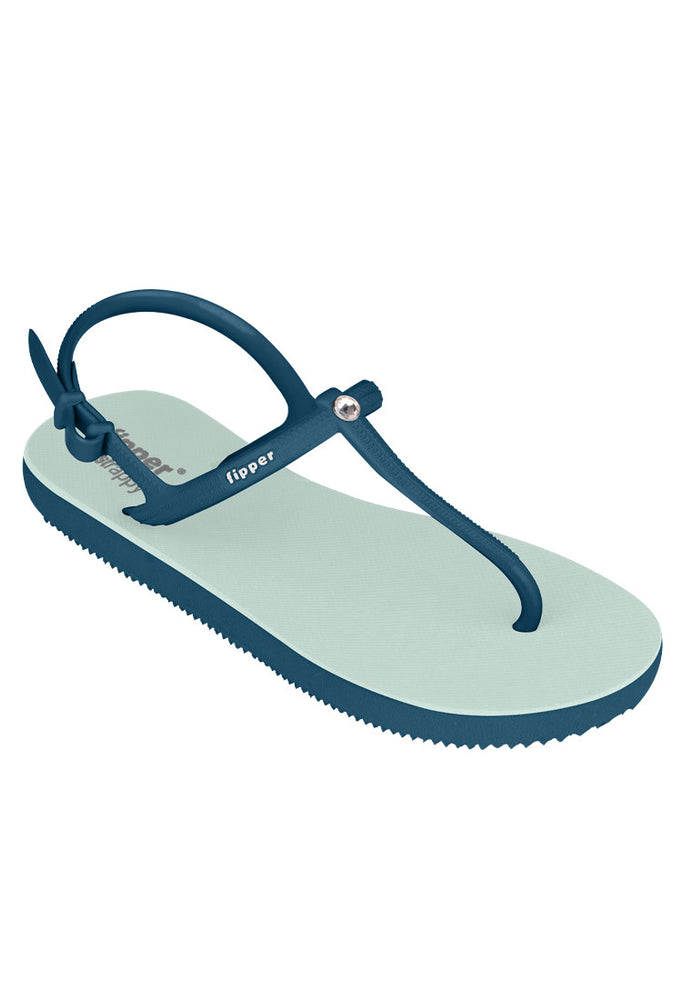 Load image into Gallery viewer, Swarovski x Fipper Strappy Rubber for Women in Green (Schist) / Blue (Snorkel)