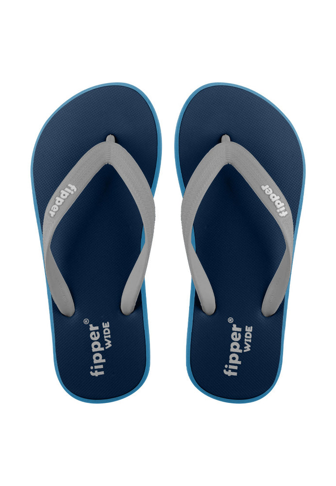 Fipper Wide Rubber for Unisex in Blue (Snorkel) / Blue (Sky) / Grey