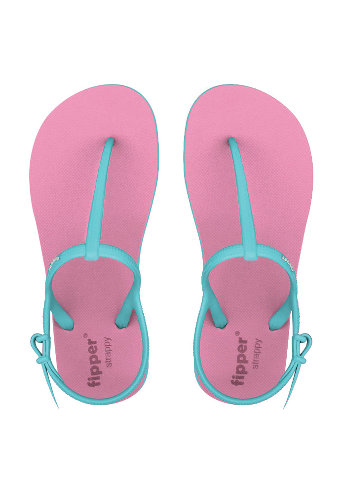 Fipper Strappy Pink (Light) / Turquoise