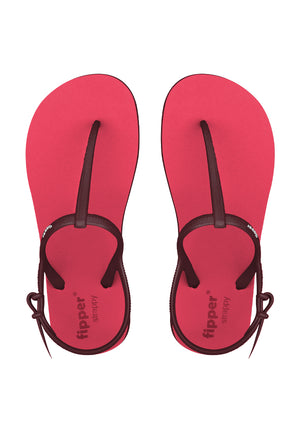 Fipper Strappy Red (Scarlet) / Red (Rose)