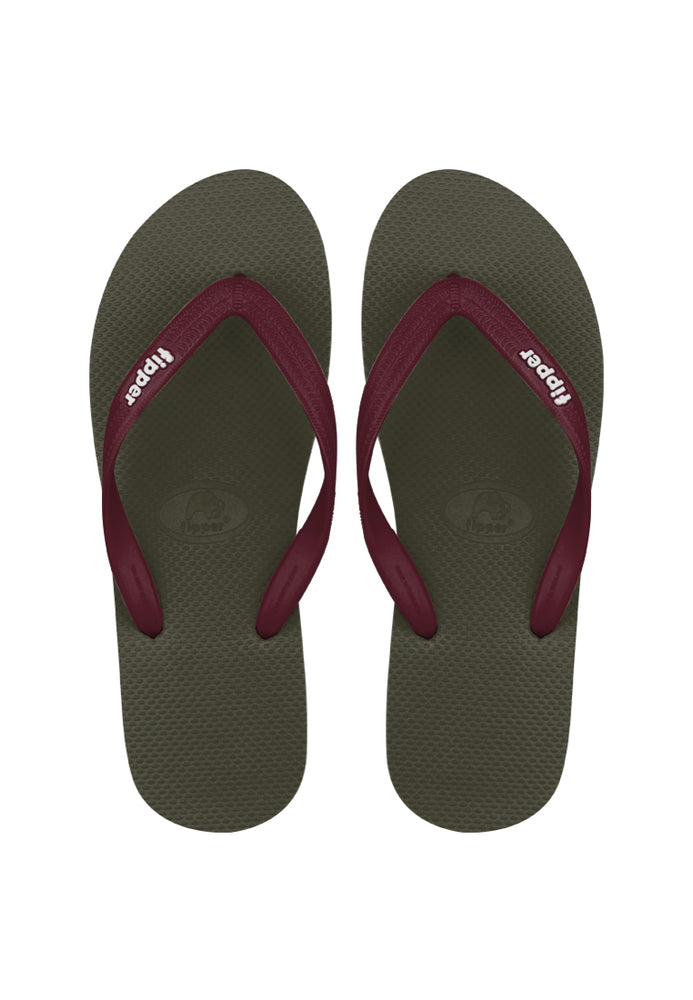 Fipper Slick Green (Army) / Maroon