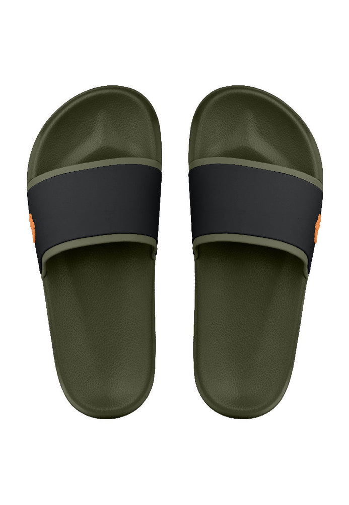 Fipper Slip On Green (Army) / Black