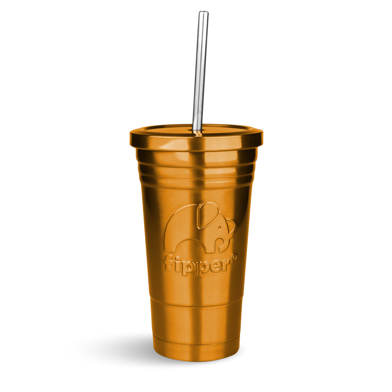 Fipper Drinkware Tumbler Gold