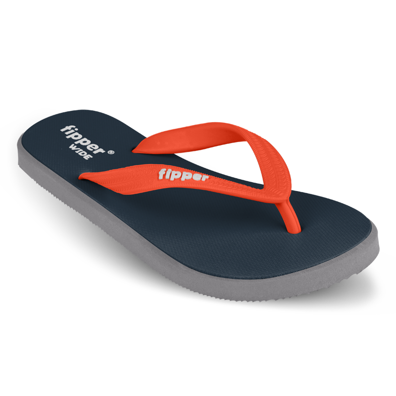 Fipper Wide Blue (Snorkel) / Grey (Light) / Orange