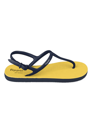 Load image into Gallery viewer, Fipper Strappy Yellow / Navy