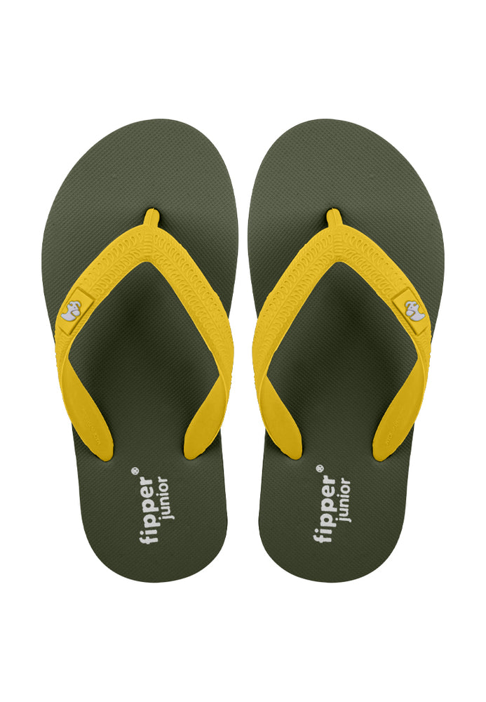 Fipper Junior Green Army / Brown (Dark) / Yellow