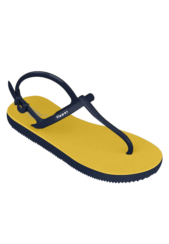 Fipper Strappy Yellow / Navy