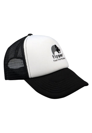 Load image into Gallery viewer, Fipper Signature Trucker Cap Black / White