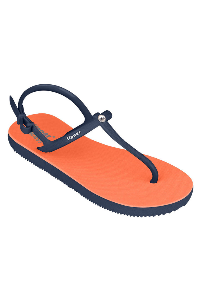 Load image into Gallery viewer, Swarovski x Fipper Strappy Rubber for Women in Orange / Blue (Snorkel)