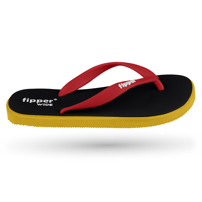 Fipper Wide Black / Yellow / Red