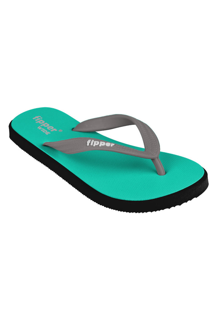Fipper Wide Turquoise / Black / Grey