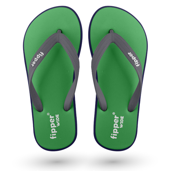 Load image into Gallery viewer, Fipper Wide Green (Atlantis) / Blue (Navy) / Grey