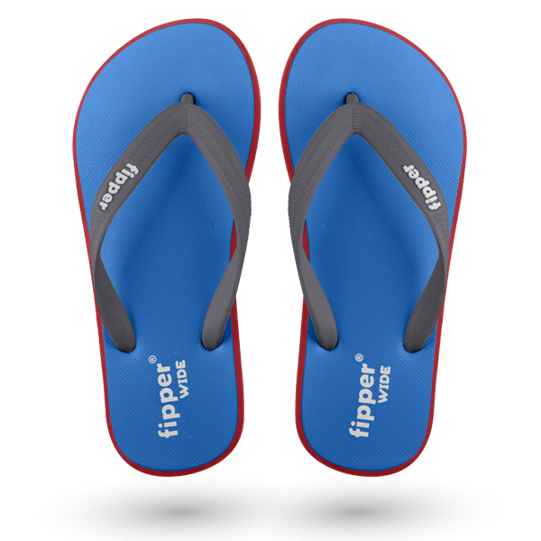 Fipper Wide Blue / Red / Grey