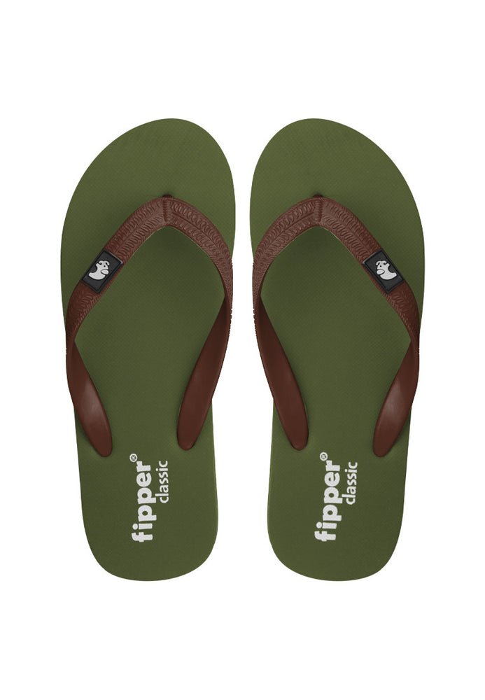 Fipper Classic Green (Army) / Brown (Dark)