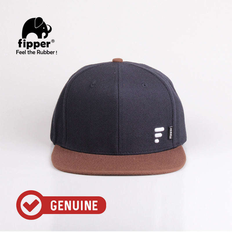 Fipper Snapback Cap 20Seven Blue (Charcoal) / Brown (Dark)