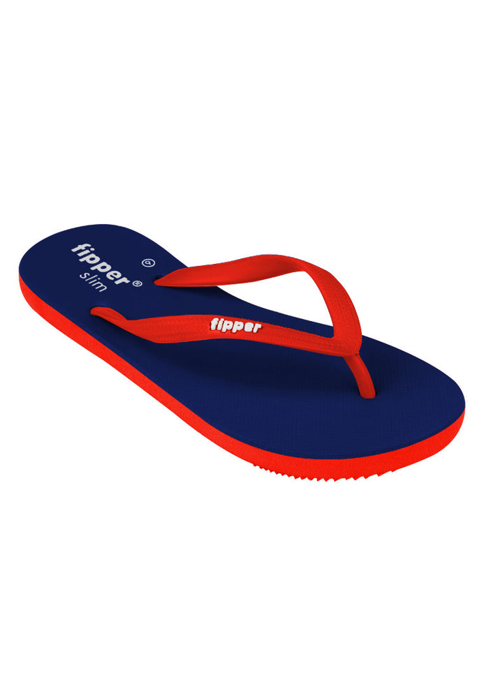 Fipper Slim Rubber for Women in Navy / Red