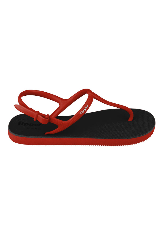 Fipper Strappy Black / Red