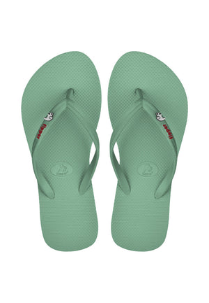 Load image into Gallery viewer, Fipper Glitter Rubber for Women in Green (Jade) / Maroon