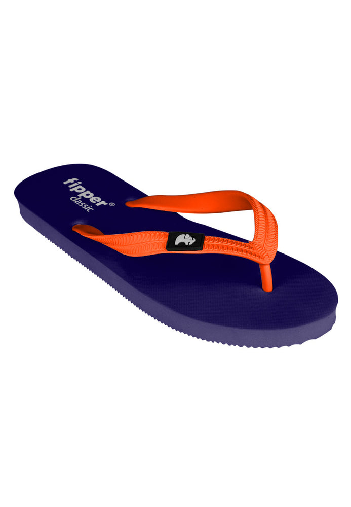 Fipper Classic Rubber for Unisex in Navy / Orange