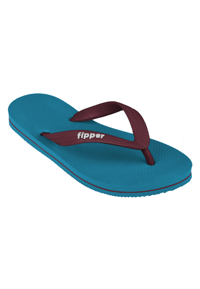 Load image into Gallery viewer, Fipper Slick Blue (Sherpa) / Maroon
