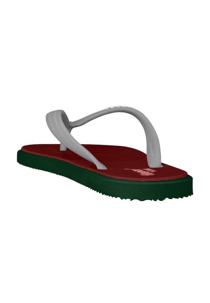 Fipper Wide Rubber for Unisex in Maroon / Green (Emerald) / Grey