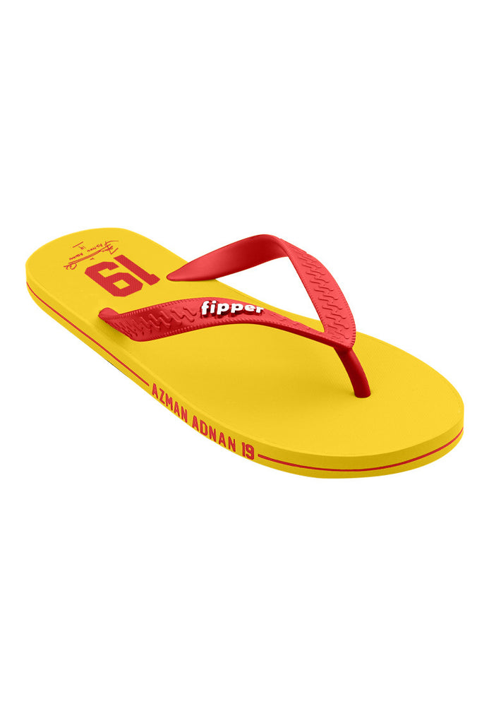 Fipper Slipper x Azman Adnan ( Malaysian Footballer) Rubber Slipper in yellow