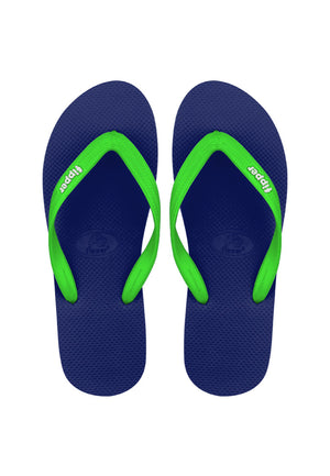 Fipper Slick Blue (Navy) / Green (Apple)