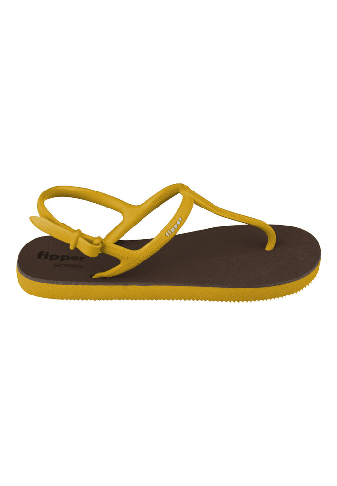 Fipper Strappy Brown (Dark) / Yellow