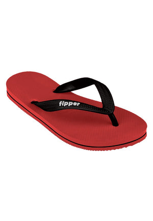 Load image into Gallery viewer, Fipper Slick Rubber for Unisex in Red / Black