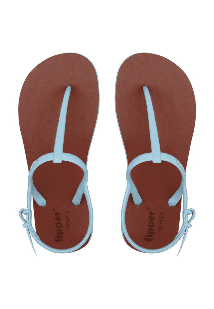 Fipper Strappy Brown / Blue (Echo)