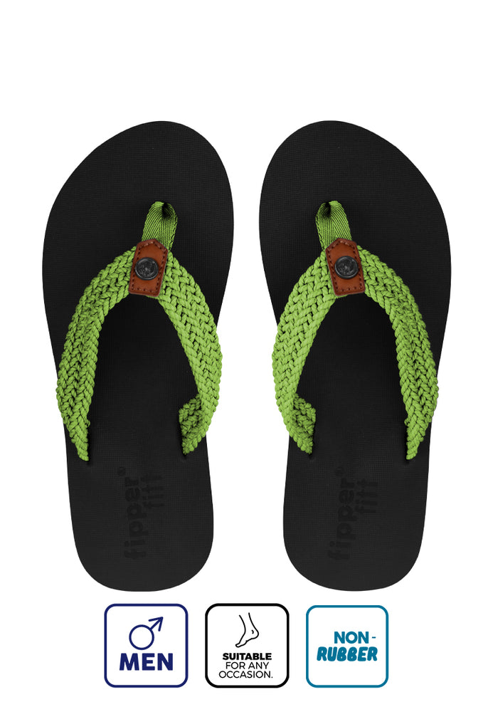 Fipper Fitt Black / Green (Apple)