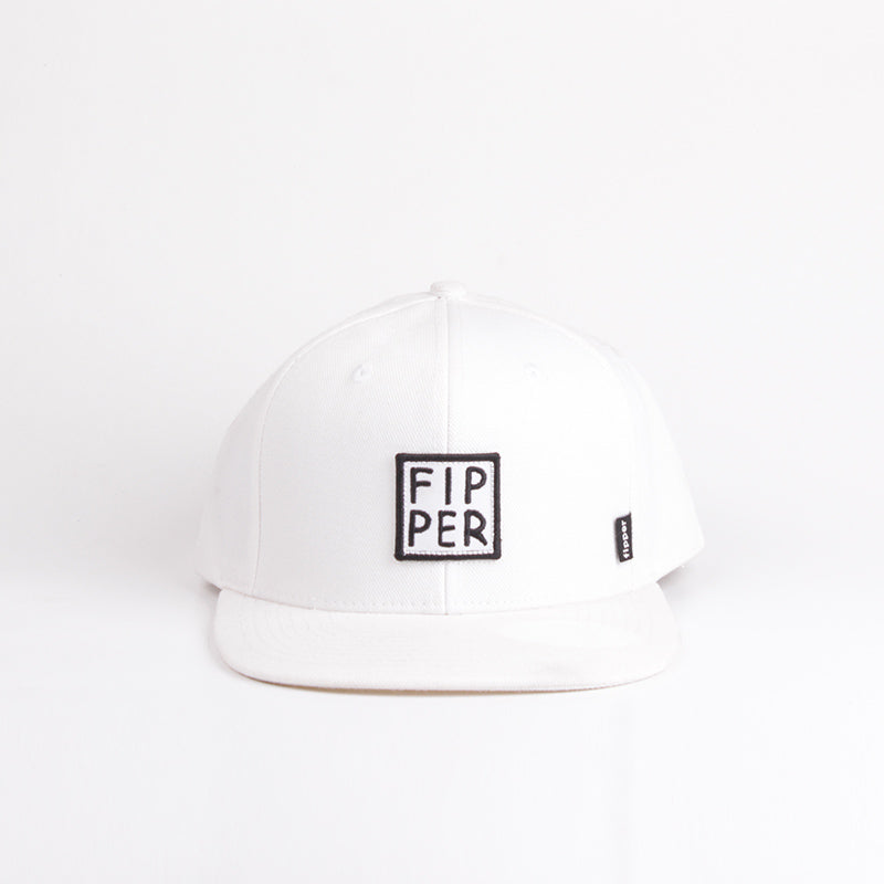 Load image into Gallery viewer, Fipper Snapback Cap 23One White