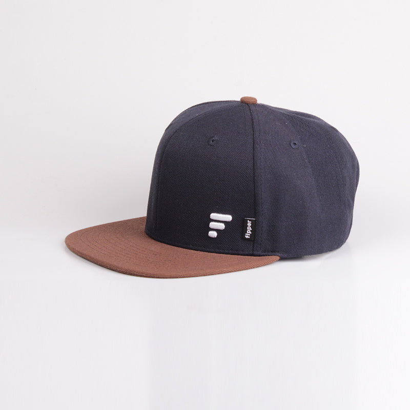 Fipper Snapback Cap 20Seven Blue(Charcoal)/ Brown (Dark)
