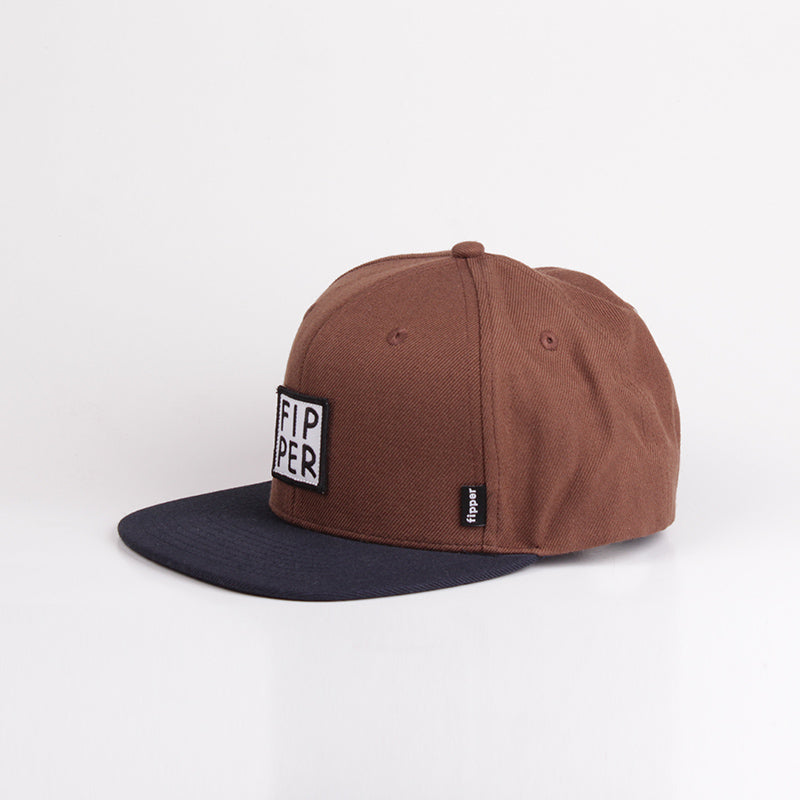 Fipper Snapback Cap 23One Brown (Dark) / Blue (Charcoal)