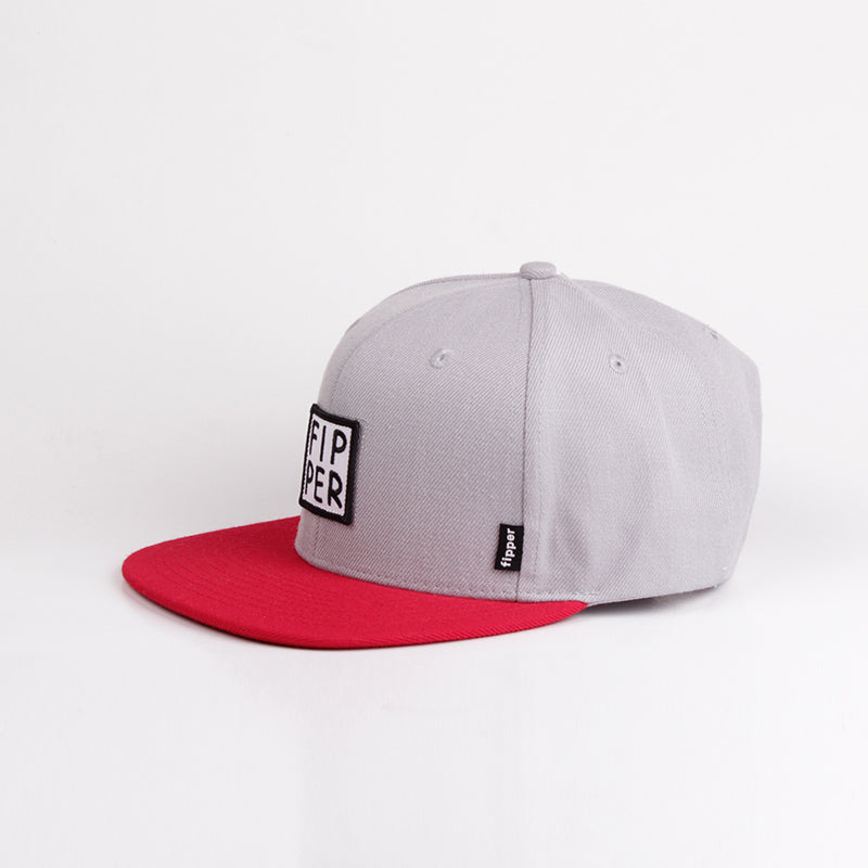 Fipper Snapback Cap 23One Grey (Light) / Red