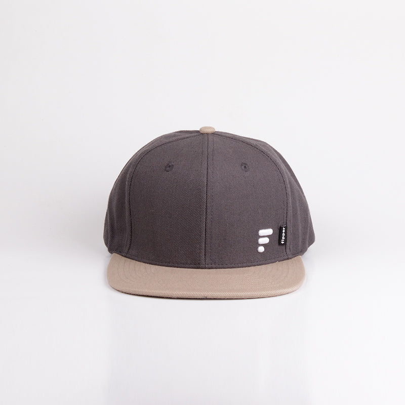 Fipper Snapback Cap 20Seven Grey(Dark)/ Brown(Almond)