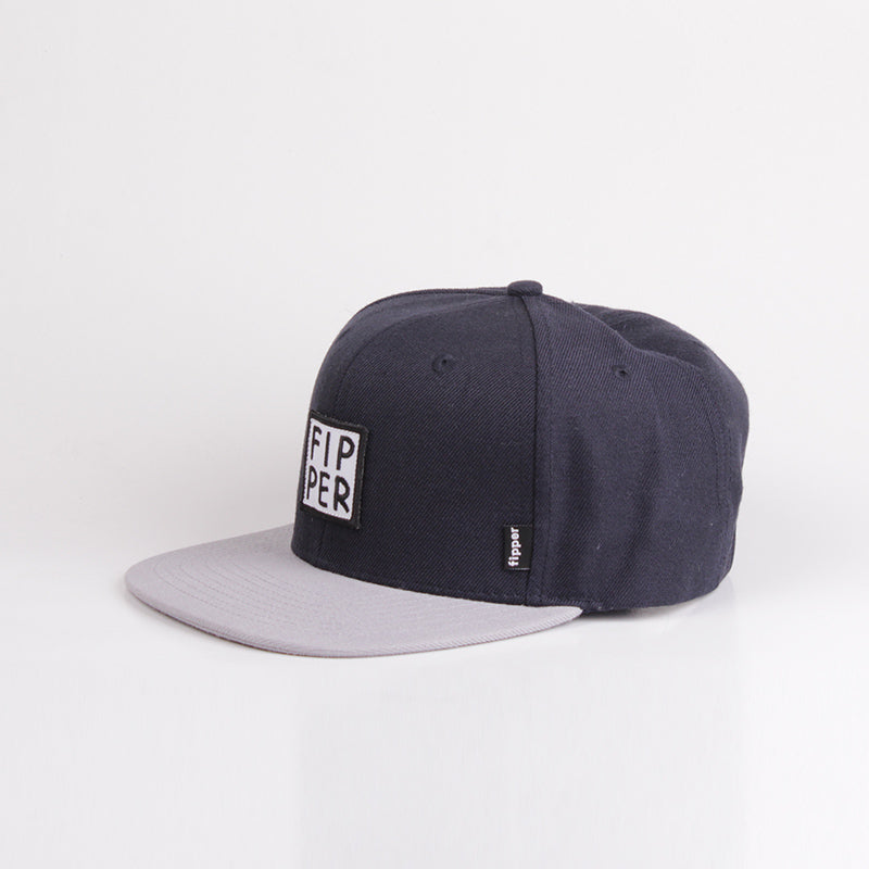 Fipper Snapback Cap 23One Blue (Charcoal) / Grey (Light)