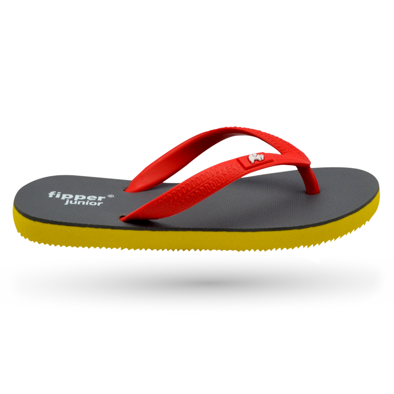 Fipper Junior Grey (Dark) / Yellow / Red